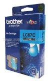Tinta BROTHER Cyan Ink Cartridge [LC-67C]